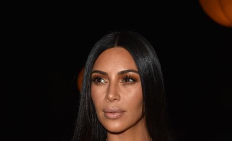 Kim Kardashian at Fashion Week
