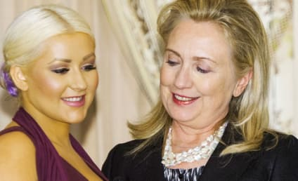 Christina Aguilera Honored, Ogled By Hillary Clinton
