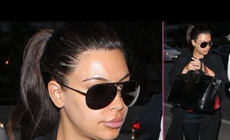 Kim Kardashian Screams at Paparazzi: Shut the Effin Door!