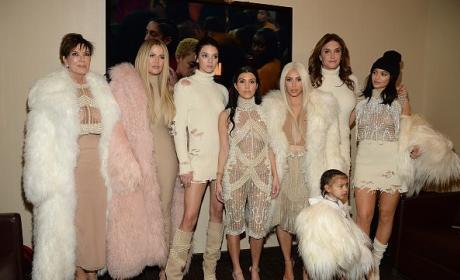 The Kardashian-Jenner Women at Yeezy Season 3