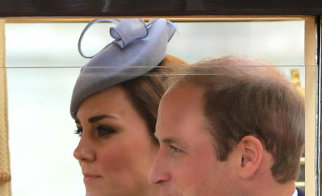 Kate Middleton and Prince William at Buckingham Palace