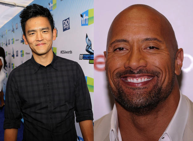 John Cho and The Rock
