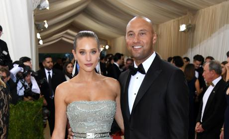 Hannah Davis and Derek Jeter: 2016 Costume Institute Gala