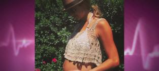 Stacy Keibler Baby Bump Bikini