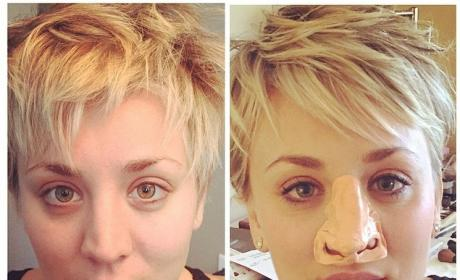 Kaley Cuoco: Nose Job Joke Wins Instagram