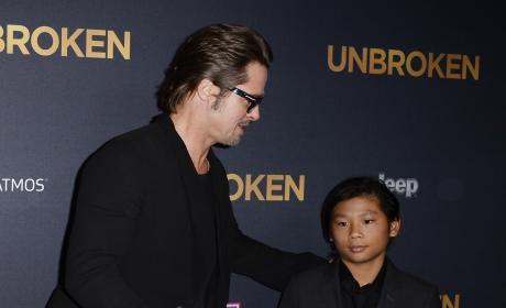 Brad Pitt and Son Pic