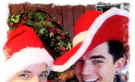 Adam Lambert Celebrates Christmas with Sauli Koskinen