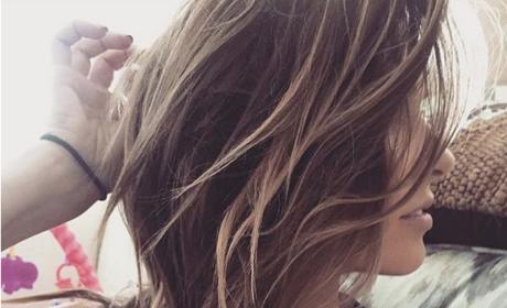 Audrina Patridge Breast-Feeds Daughter