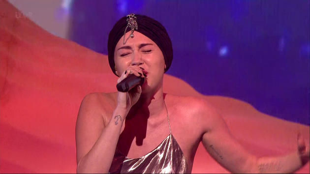 Miley Cyrus on The UK X Factor