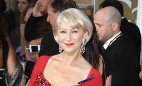 Helen Mirren at the 2015 Golden Globes