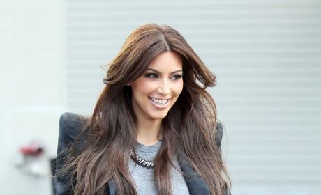 Kim Kardashian Goes Light