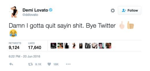 Demi says bye