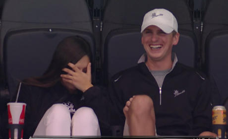Awkward Kiss Cam Stars Can't Avoid the Spotlight