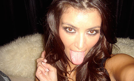Kim Kardashian Tongue Photo