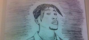 Eminem Penned Letter, Drawing For Tupac's Mom!