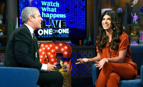 Andy Cohen with Teresa Giudice
