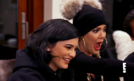 Khloe Kardashian Surprised Face