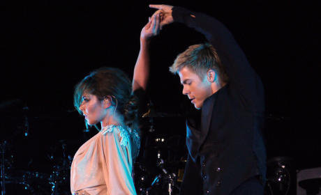 Cheryl Cole and Derek Hough on Stage