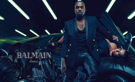 Kim and Kanye For Balmain