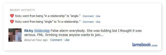 Breakup False Alarm
