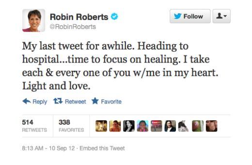 Robin Roberts Tweet