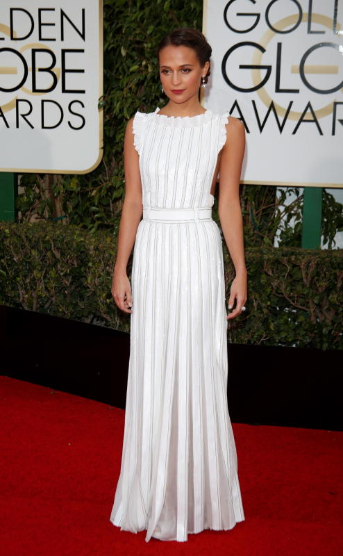 Alicia vikander 73rd annual golden globe awards