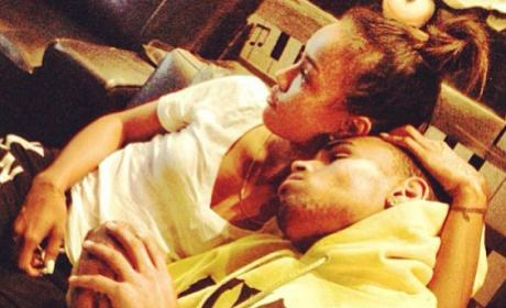 Chris Brown and Karrueche Tran: Cuddling on Instagram!