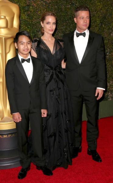 Brad Pitt and Son Maddox Photo