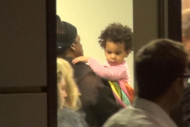 Blue Ivy and Dad