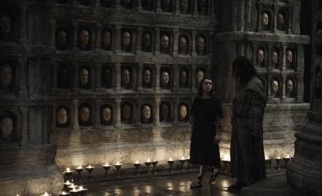 Arya and Jaqen H'Ghar