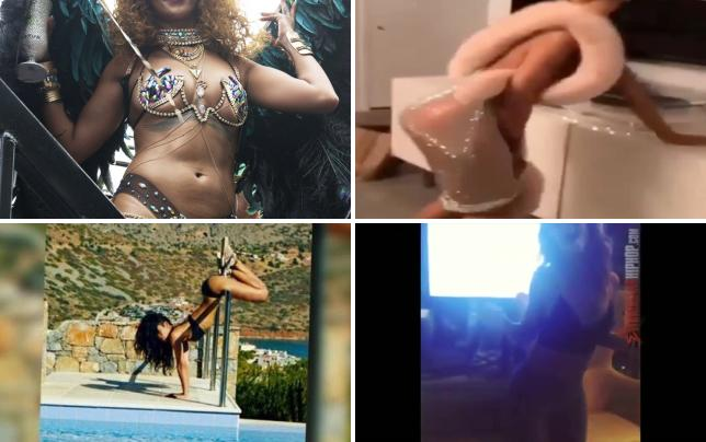 Rihanna twerks of major storm in barbados