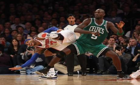 Carmelo Anthony Awaits Kevin Garnett