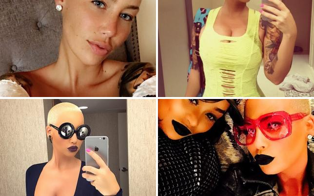Amber rose selfie time