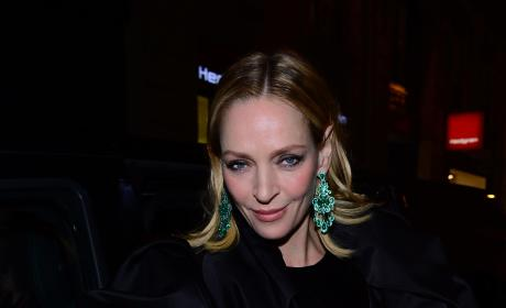 Uma Thurman: Paris Fashion Week Sp/Su 2016