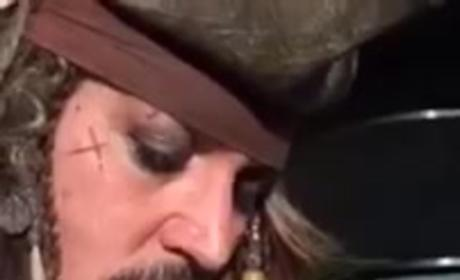 Johnny Depp Bottle-Feeds Baby Bat While Dressed as Jack Sparrow: WATCH!
