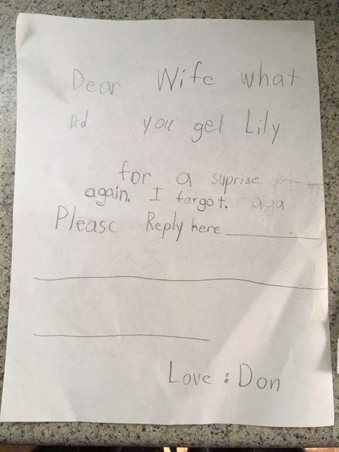 Adorable Toddler Note