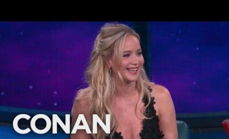 "Jennifer Lawrence Sings ""Believe"" on Conan"