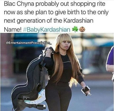 Rob Kardashian-Blac Chyna Meme