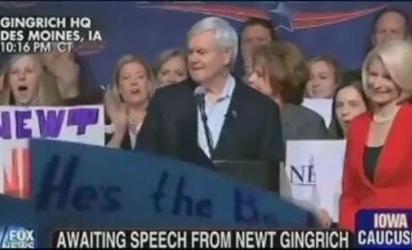 Newt Gingrich Praises Rick Santorum; Mitt Romney Not So Much