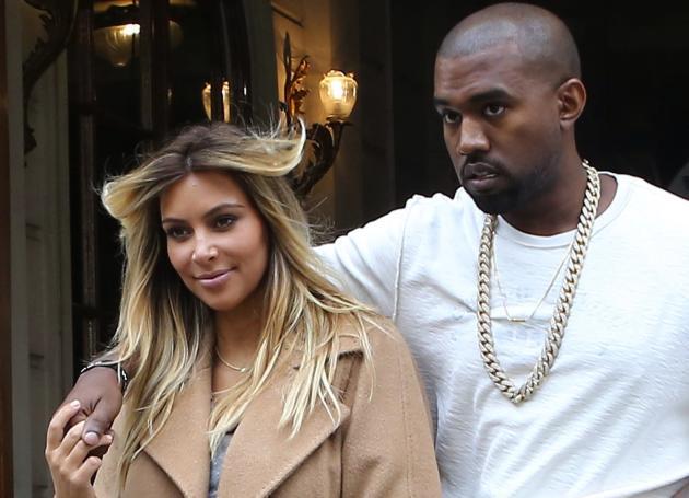 Kim with Kanye
