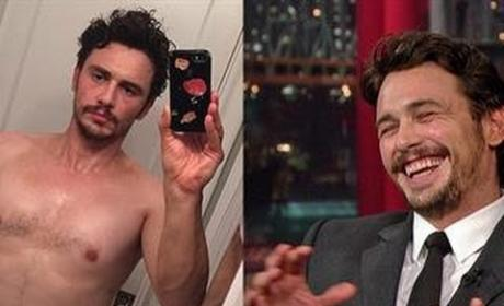 James Franco on The Late Show
