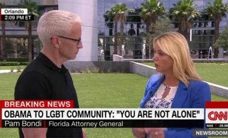 Anderson Cooper and Pam Bondi