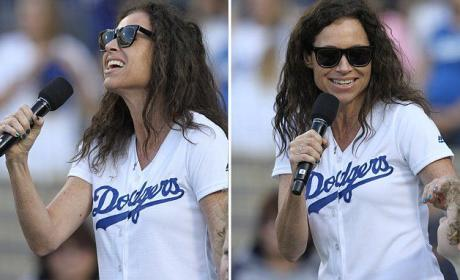 Minnie Driver Messes Up National Anthem: Watch, Cringe!