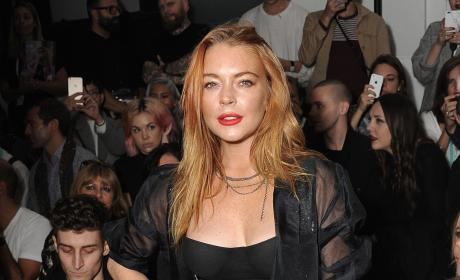 Lindsay Lohan at a Fashion Show