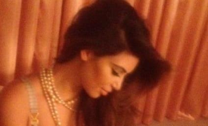 "Kim Kardashian, Boobs Wish Fans a ""Nighty Night"""