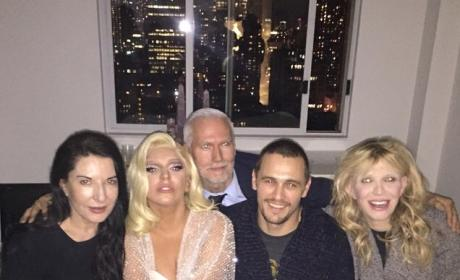 James Franco, Courtney Love, Lady Gaga Photo