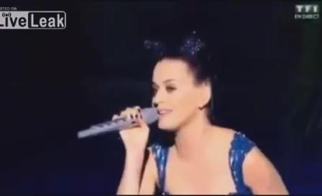 Katy Perry Lip-Syncing, Forced to Start Over and Sing Live at NRJ Music Awards: Watch Now!