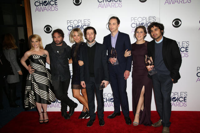 The big bang theory cast 2016 peoples choice awards