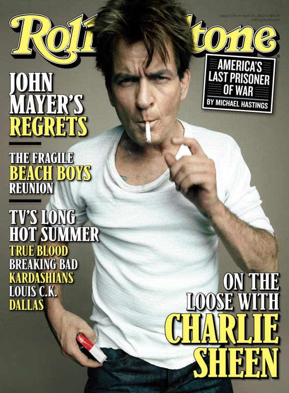 Charlie Sheen Rolling Stone Cover