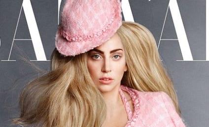 Lady Gaga Harper's Bazaar Cover: Singer Flaunts Cleavage, French Bulldog